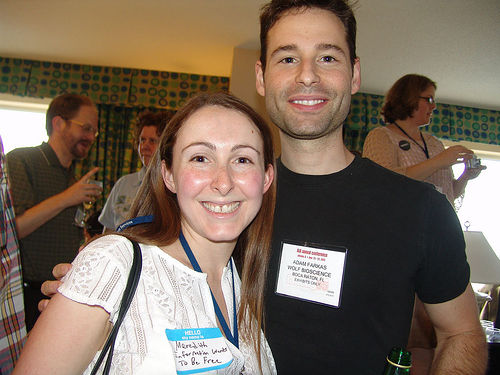 Me and Adam at the Blogger Soiree