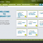 Library DIY homepage