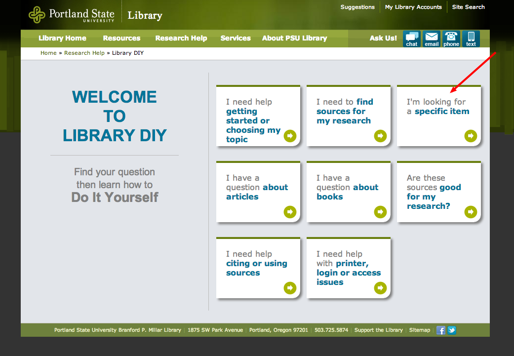 Library DIY: Unmediated point-of-need support