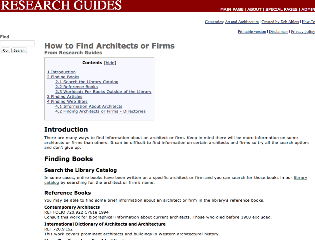 A specific research guide