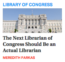The Next Librarian of Congress?