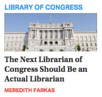 The Next Librarian of Congress?