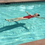 Floating on my back in the pool
