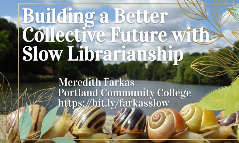 What is slow librarianship?